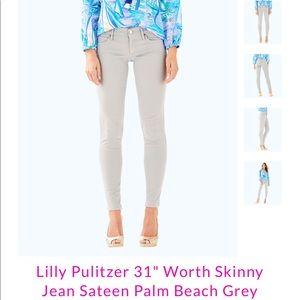 Lily Pulitzer 31'' Worth Skinny Pant - Sateen